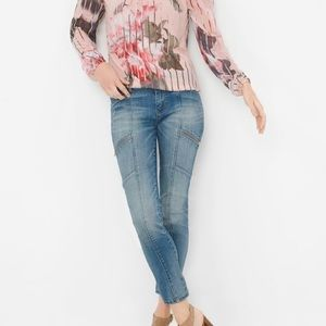 🔥 WHBM Skimmer Jeans with zipper accents🔥